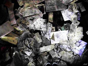papel en el suelo
